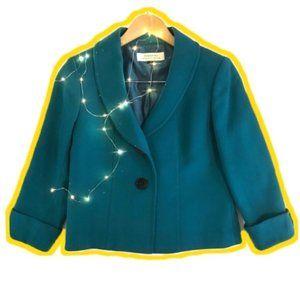 Tahari Arthur S. Levine Peacock Blue Coat